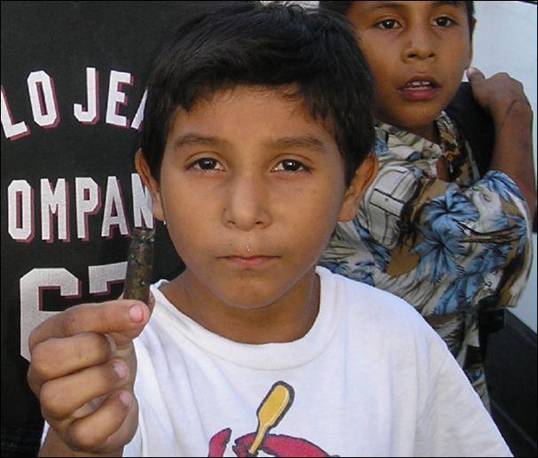 Matamoros boy holds bullet after gun battle